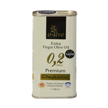 AMPHOREUS Premium Extra Virgin Olive Oil 100ml Tin Can