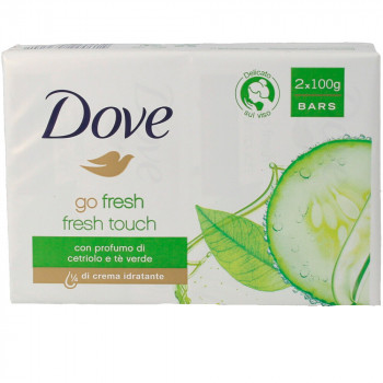 DOVE ΣΑΠΟΥΝΙ FRESH TOUCH 2x100gr