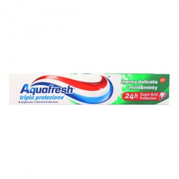 AQUAFRESH ΟΔΟΝΤΟΚΡΕΜΑ TRIPLE PROTECTION MENTA DELICATA 75 ML