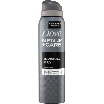 DOVE DEO SPRAY COTTON MEN INVISIBLE DRY 150 ML