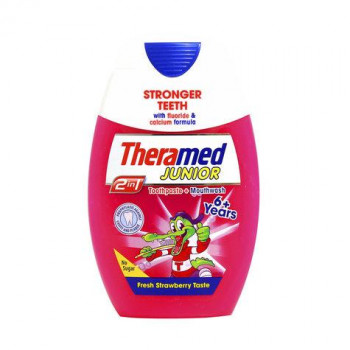 THERAMED ΟΔΟΝΤΟΚΡΕΜΑ JUNIOR STRAWBERRY 6+ 75 ML