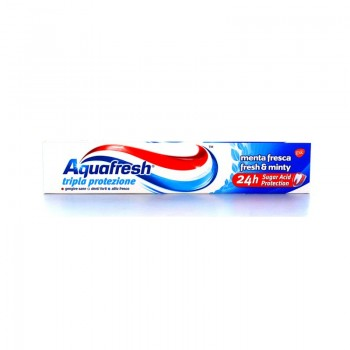 AQUAFRESH ΟΔΟΝΤΟΚΡΕΜΑ TRIPLE PROTECTION MENTA FRESCA 75 ML