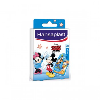HANSAPLAST STRIPS MICKEY MOUSE KIDS 20 ΤΕΜ