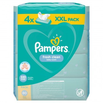PAMPERS ΜΩΡΟΜΑΝΤΗΛΑ FRESH 80 TEM*4  XXL