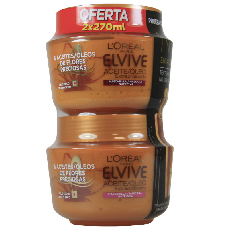 ELVIVE ΜΑΣΚΑ ΜΑΛΛΙΩΝ EXTRAORDINARY OIL NUTRITIOUS 2x270 ML