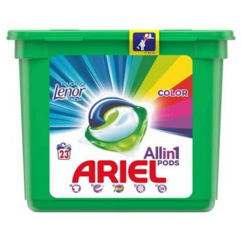 ARIEL ΚΑΨΟΥΛΕΣ All in 1 COLOR TOUCH OF LENOR 23T