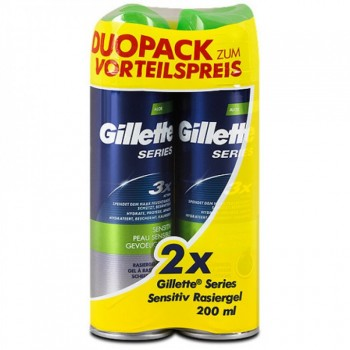 GILLETTE GEL ΞΥΡΙΣΜΑΤΟΣ SERIES SENSITIVE 2x200 ML