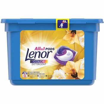 LENOR ΚΑΨΟΥΛΕΣ ALL IN 1 GOLD ORCHIDEA 15 ΤΕΜ