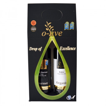 AMPHOREUS Bio-Gourmet Extra Virgin Olive Oil 2x100ml