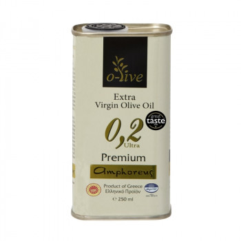 AMPHOREUS Premium Extra Virgin Olive Oil 250ml Tin Can
